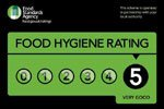 Food Hygiene Rating 5 out of 5