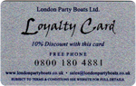 London Party Boats Loyalty Card