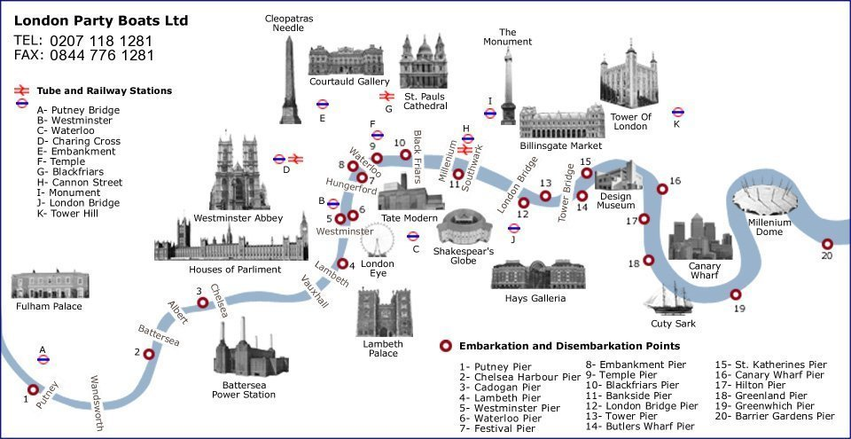 London Points Of Interest Map.Joint Organisations Summer Boat Trip Society Of Construction Law